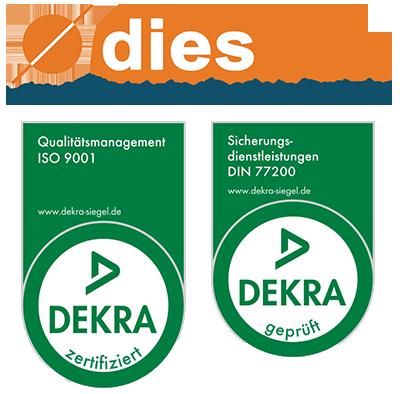 dekra siegel diesnox gmbh ISO 9001 DIN 77200